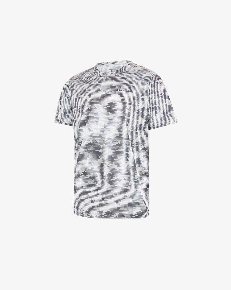 Champion T-shirt in micro-mesh con stampa camou e logo Uomo