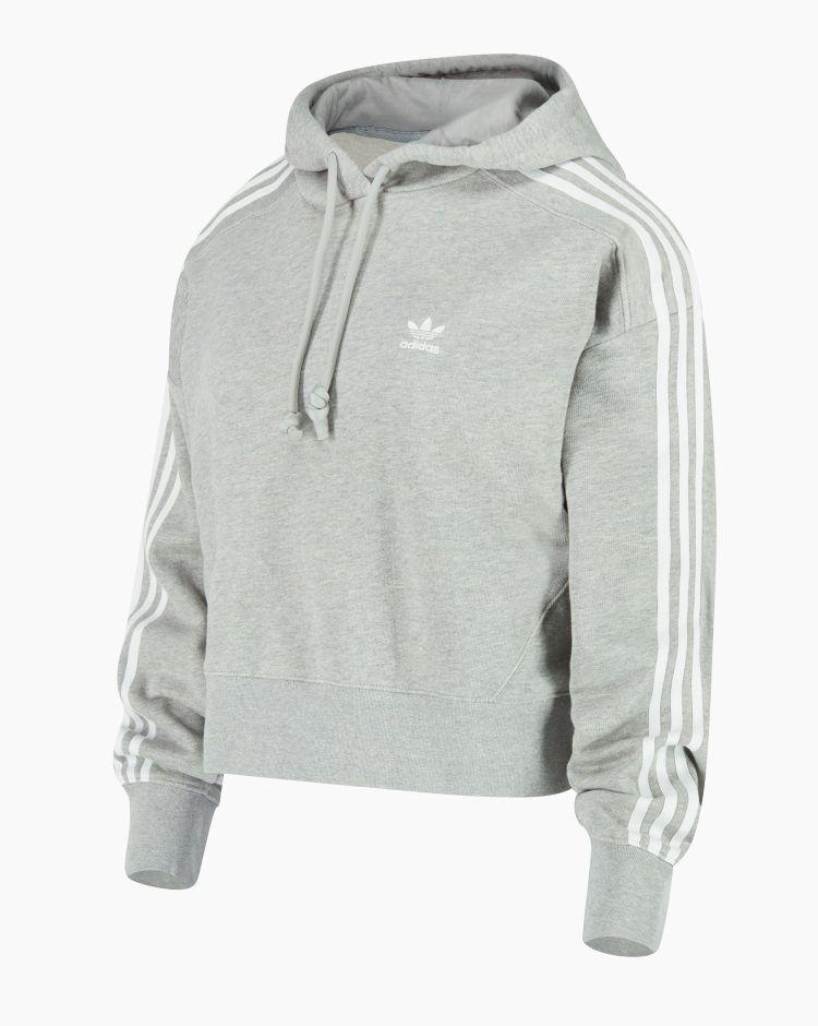 Adidas Short Hoodie Grigio Donna