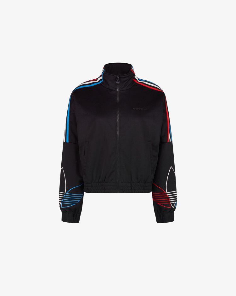 Adidas Felpa con zip Adicolor Tricolor Trefoil Primeblue Donna