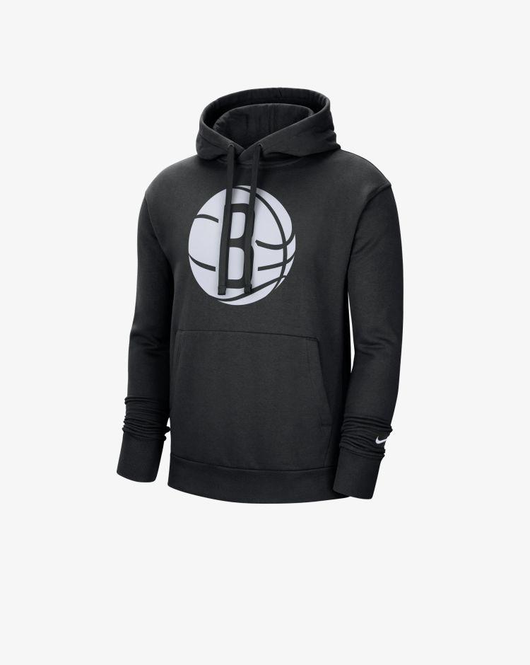 Nike Brooklin Nets Essential Felpa Con Cappuccio Nba Uomo