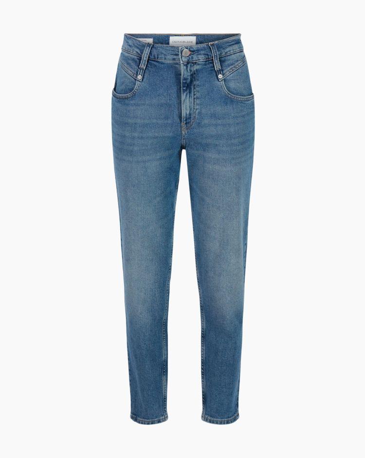 Calvin Klein Mom Jeans Blu Donna