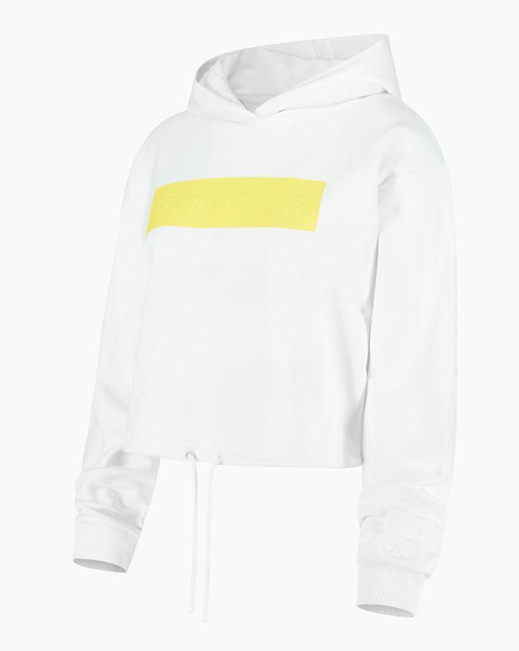 Calvin Klein Hero Logo Hoodie Bianco Donna