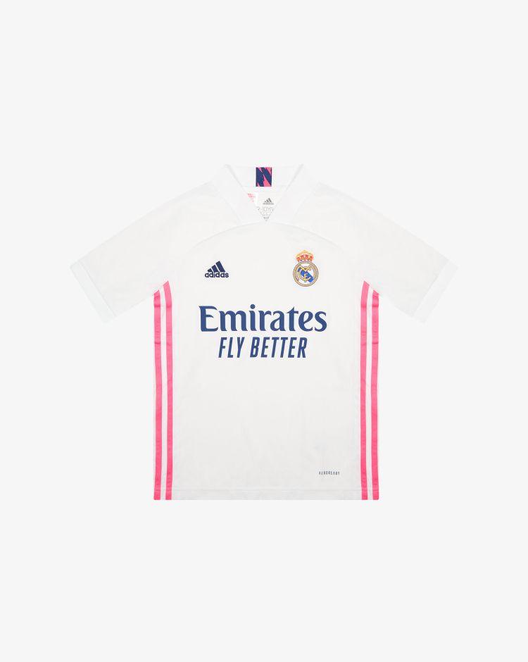 Adidas Real Madrid Home 2020/2021 T-Shirt Replica Bambino
