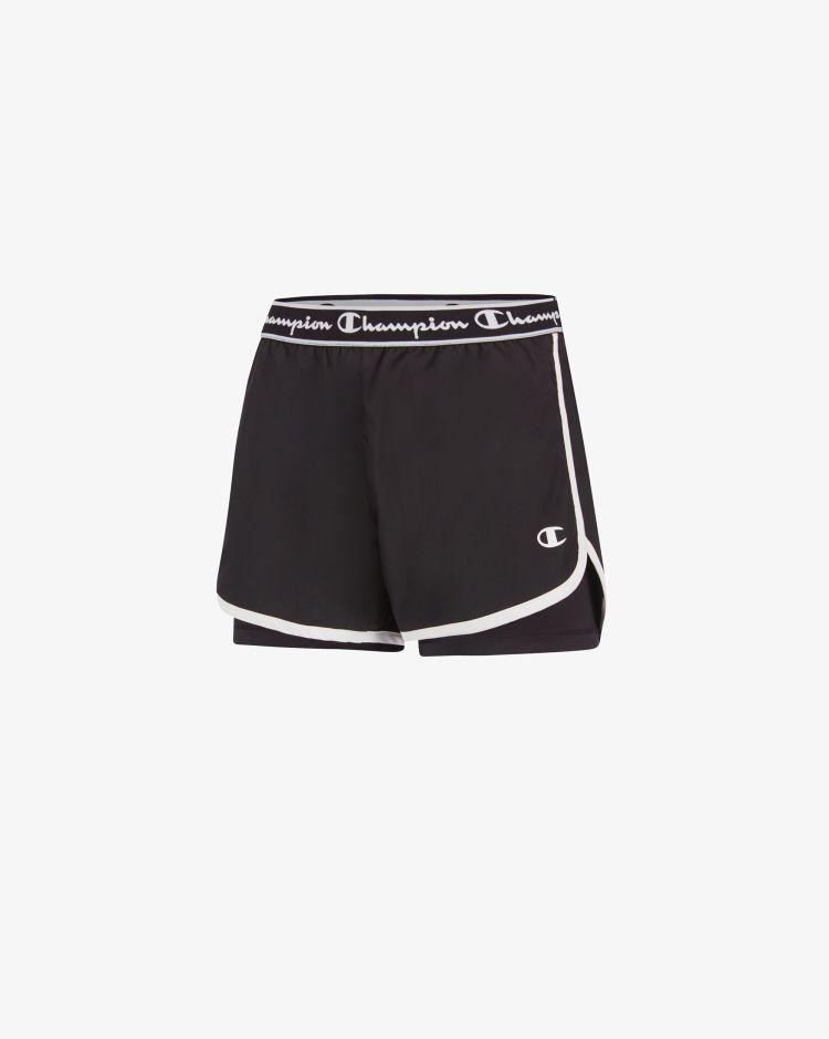 Champion Shorts doppiati con logo Donna