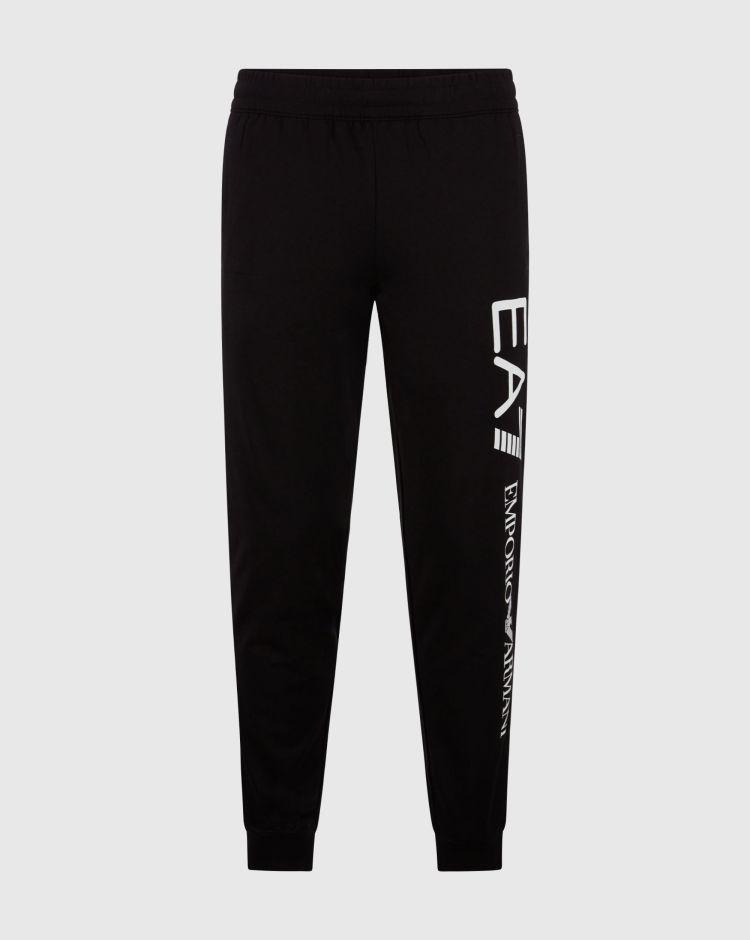 Emporio Armani Pantaloni da jogging in cotone con logo a contrasto Uomo