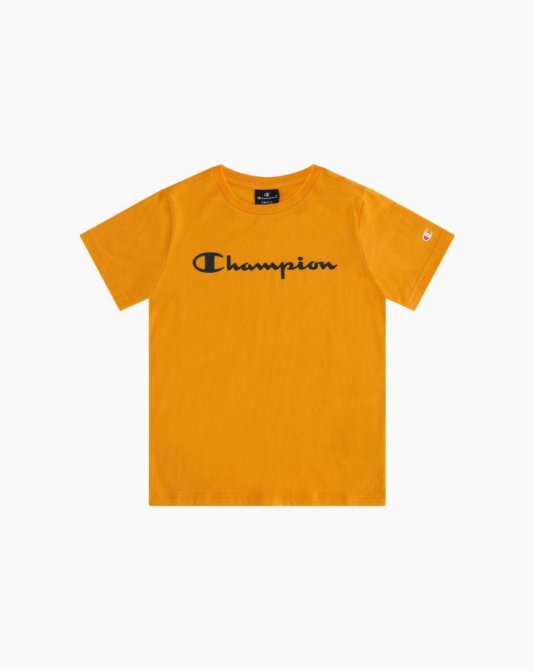 Champion T-shirt girocollo con logo Giallo Bambino