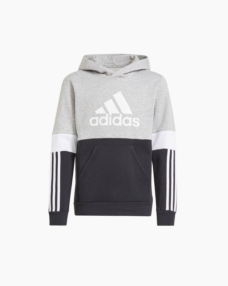 Adidas Felpa Essentials Foundation Grigio Bambino