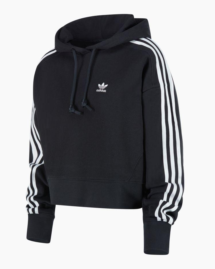 Adidas Short Hoodie Nero Donna