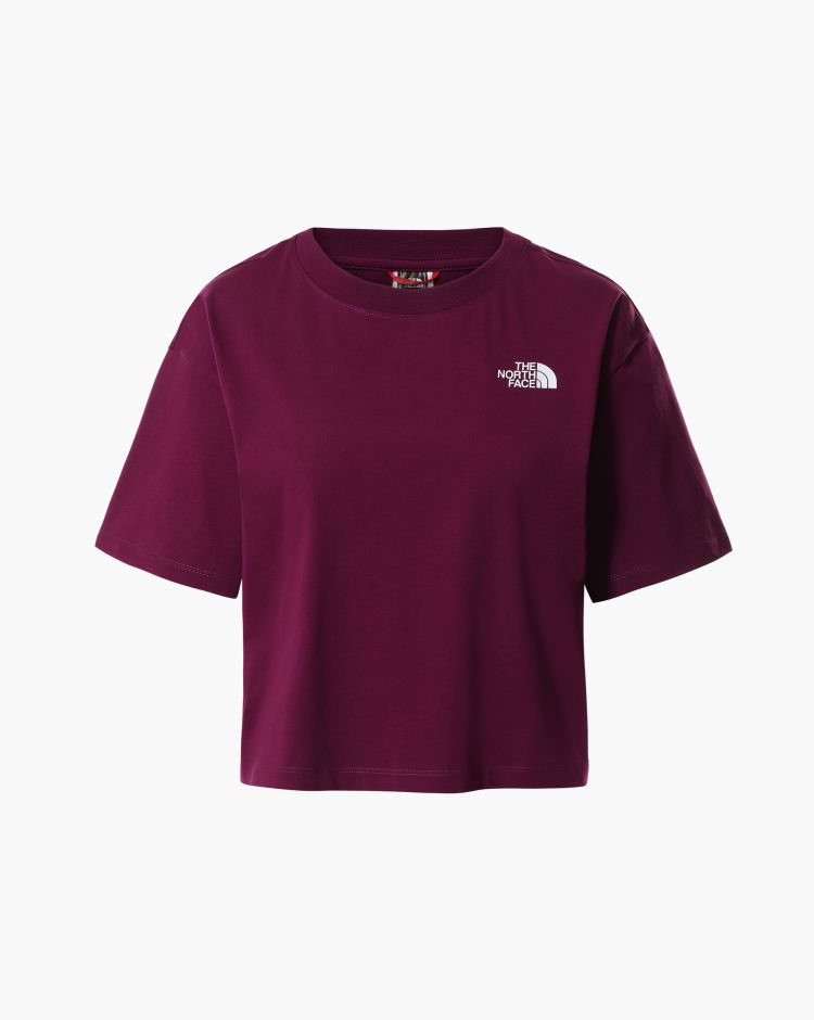The North Face Cropped Sd Tee Rosso Donna