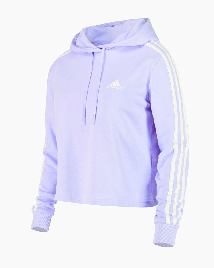 Adidas Felpa 3 Stripes Viola Donna